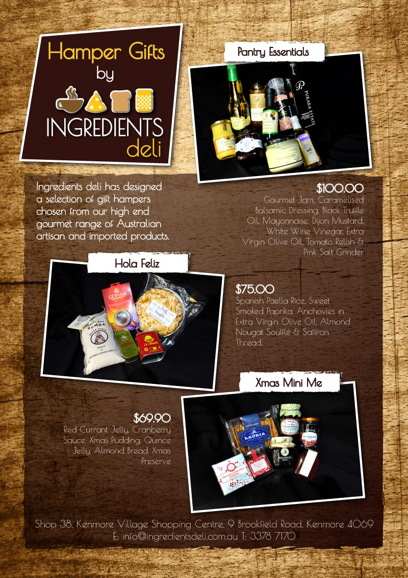Ingredients Deli Christmas and Gift Hampers